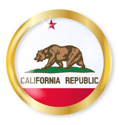 California flag button vector
