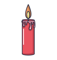 Candle icon cartoon style vector