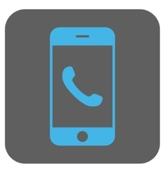 Cell Phone Rounded Square Icon vector
