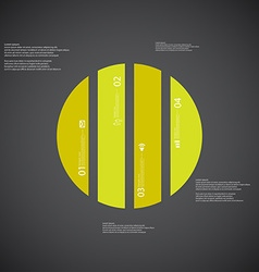 Circle template consists of four green parts on vector