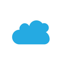 cloud template vector image