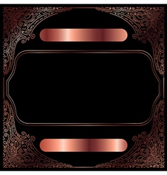 Copper vintage decorative frame vector