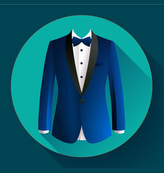 dark blue man suit icon vector image
