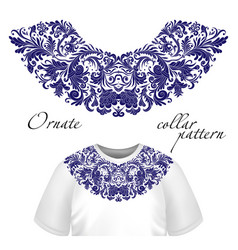 Design for collar shirts shirts blouses vector