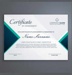diploma cerificate with modern pattern vector image