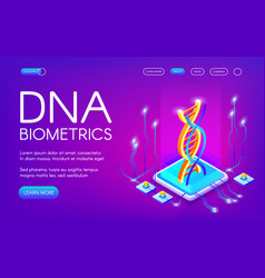 Dna biometrics technology vector
