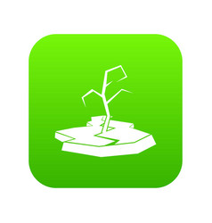 drought icon digital green vector image