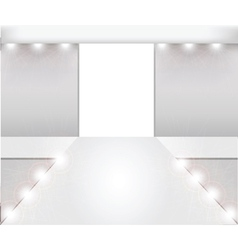 Empty fashion runway vector