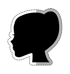female profile silhouette icon vector image