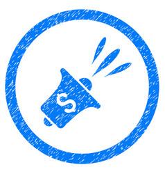 Financial news rupor rounded grainy icon vector