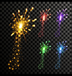 firework night carnival light holiday vector image