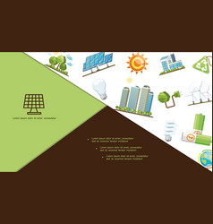 flat energy save composition vector image