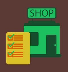 Flat icon shop form vector