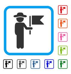 gentleman commander framed icon vector image