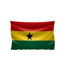 ghana flag on a white vector image