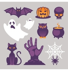Halloween icons signs and symbols vector