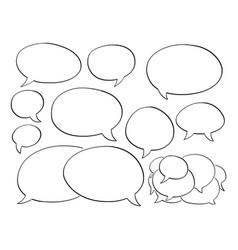 Hand drawn set empty comic speech text vector
