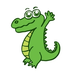 Happy crocodile for kids design vector image