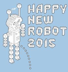 Happy new robot 2015 vector