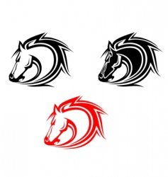 horses tattoo vector image