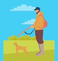 hunting dog pointer isolated cartoon animal vector image