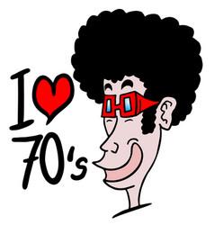 i love 1970 vector image