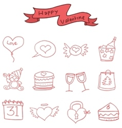Icon of Valentine day element vector image