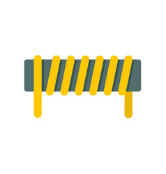 Induction spring coil icon flat style vector