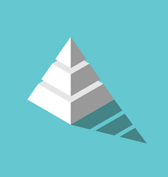 isometric pyramid three levels vector image