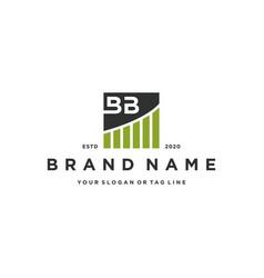 Letter bb chart financial logo design vector