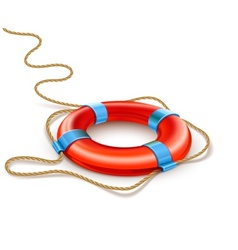 Life buoy rescue ring helps vector
