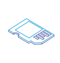 line micro sd technology to save documents vector image