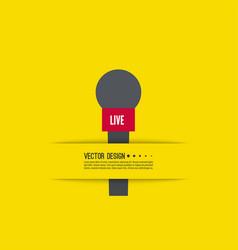 Live news template vector