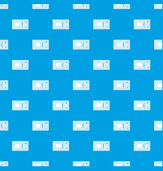 microwave pattern seamless blue vector image