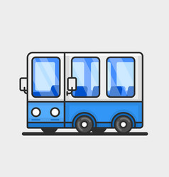 modern bus icon flat design vector image