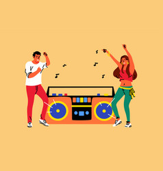 music dance lifestyle recreation friendship vector image