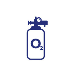 Oxygen cylinder or tank icon vector