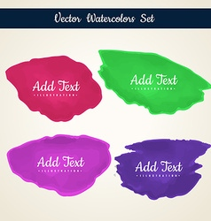 Paint stain collection vector