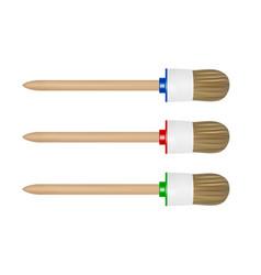 painting brush in paint brush on white back vector image
