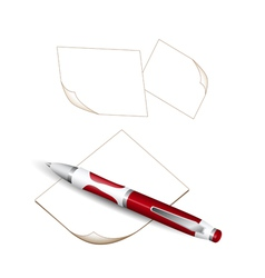 Pen and notes vector image