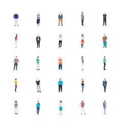 People character flat icon pack vector