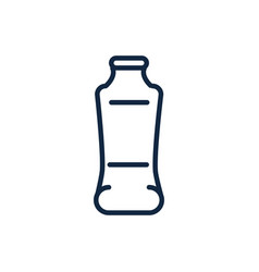 plastic bottle recycle ecology environment icon vector image