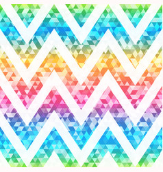 rainbow triangle seamless pattern vector image