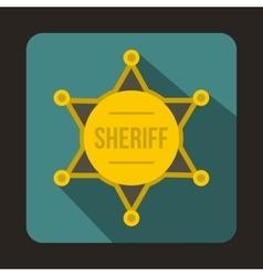 Sheriff badge icon flat style vector