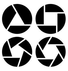shutter symbols vector image