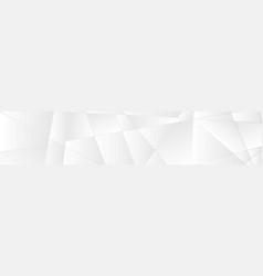 silver white abstract polygonal tech banner vector image