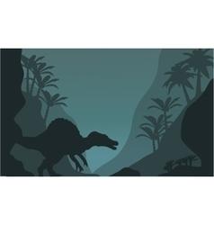 Single spinosaurus of silhouette vector