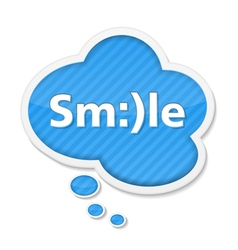 Speech bubble with smile vector image