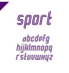 sport font square alphabet or letter set vector image