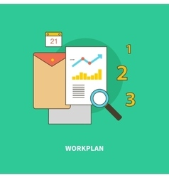 Stage Business Process is Formation of Workplan vector